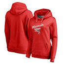Wisconsin Badgers Fanatics Branded Women's Plus Sizes Team Mom Pullover Hoodie - Red