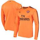 Arsenal Puma 2017/18 Goalkeeper Long Sleeve Jersey – Orange