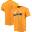 Golden State Warriors adidas Team Color On-Court Ultimate climalite T-Shirt - Gold