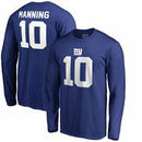 Eli Manning New York Giants NFL Pro Line by Fanatics Branded Authentic Stack Name & Number Long Sleeve T-Shirt – Royal