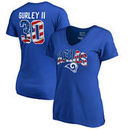 Todd Gurley Los Angeles Rams NFL Pro Line by Fanatics Branded Women's Banner Wave Name & Number T-Shirt - Royal