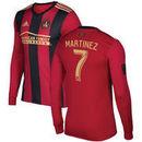 Josef Martinez Atlanta United FC adidas 2017 5-Stripe Home Authentic Long Sleeve Jersey - Red/Black