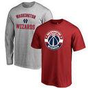 Washington Wizards Fanatics Branded Youth T-Shirt Gift Bundle - Red/Heathered Gray