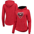 D.C. United Fanatics Branded Women's Distressed Team Speckled Fleece Pullover Hoodie – Red