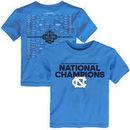 North Carolina Tar Heels Toddler 2017 NCAA Men's Basketball National Champions Bracket T-Shirt - Carolina Blue