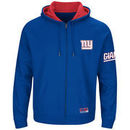 New York Giants Majestic Big & Tall Anchor Point Team Logo Full-Zip Hoodie - Royal