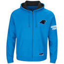 Carolina Panthers Majestic Big & Tall Anchor Point Team Logo Full-Zip Hoodie - Blue