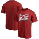 Montreal Canadiens Fanatics Branded 2017 NHL Atlantic Division Champions Face Off T-Shirt - Red