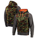 Chicago Blackhawks Fanatics Branded Recon Camo Pullover Hoodie – Olive/Heathered Gray