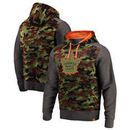 Toronto Maple Leafs Fanatics Branded Recon Camo Pullover Hoodie – Olive/Heathered Gray
