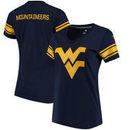 West Virginia Mountaineers Fanatics Branded Women's Iconic Mesh Sleeve Jersey T-Shirt - Navy