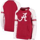 Alabama Crimson Tide Fanatics Branded Women's Iconic Sleeve Stripe Sweatshirt - Crimson/White