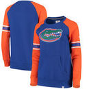 Florida Gators Fanatics Branded Women's Iconic Sleeve Stripe Sweatshirt - Royal/Orange