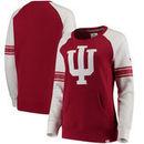 Indiana Hoosiers Fanatics Branded Women's Iconic Sleeve Stripe Sweatshirt - Crimson/White