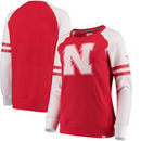 Nebraska Cornhuskers Fanatics Branded Women's Iconic Sleeve Stripe Sweatshirt - Scarlet/White