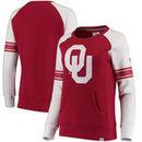 Oklahoma Sooners Fanatics Branded Women's Iconic Sleeve Stripe Sweatshirt - Crimson/White