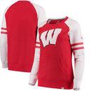 Wisconsin Badgers Fanatics Branded Women's Iconic Sleeve Stripe Sweatshirt - Red/White