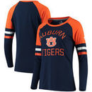 Auburn Tigers Fanatics Branded Women's Iconic Sleeve Stripe Scoop Long Sleeve T-Shirt - Navy/Orange