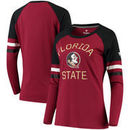 Florida State Seminoles Fanatics Branded Women's Iconic Sleeve Stripe Scoop Long Sleeve T-Shirt - Garnet/Black