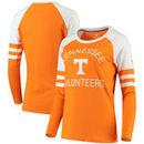 Tennessee Volunteers Fanatics Branded Women's Iconic Sleeve Stripe Scoop Long Sleeve T-Shirt - Tennessee Orange/White