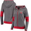 Wisconsin Badgers Champion Women's Convergence Full-Zip Hoodie - Gray/Red