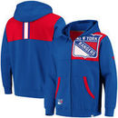 New York Rangers Fanatics Branded Big & Tall Iconic Fleece Full-Zip Hoodie – Blue/Red