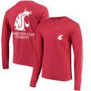 Washington State Cougars League Vintage Wash Pocket Long Sleeve T-Shirt – Crimson