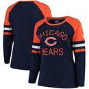 Chicago Bears NFL Pro Line by Fanatics Branded Women's Plus Size Iconic Long Sleeve T-Shirt - Navy/Orange