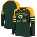 Green Bay Packers NFL Pro Line by Fanatics Branded Women's Plus Size Iconic Long Sleeve T-Shirt - Green/Gold