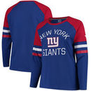 New York Giants NFL Pro Line by Fanatics Branded Women's Plus Size Iconic Long Sleeve T-Shirt - Royal/Red