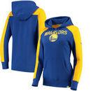 Golden State Warriors Fanatics Branded Women's Iconic Fleece Hoodie - Royal/Gold