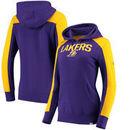 Los Angeles Lakers Fanatics Branded Women's Iconic Fleece Hoodie - Purple/Gold