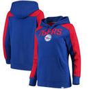 Philadelphia 76ers Fanatics Branded Women's Iconic Fleece Hoodie - Royal/Red