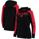 Toronto Raptors Fanatics Branded Women's Iconic Fleece Hoodie - Black/Red