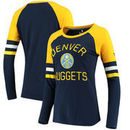 Denver Nuggets Fanatics Branded Women's Iconic Long Sleeve T-Shirt - Navy/Gold