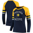 Indiana Pacers Fanatics Branded Women's Iconic Long Sleeve T-Shirt - Navy/Gold