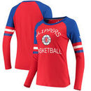 LA Clippers Fanatics Branded Women's Iconic Long Sleeve T-Shirt - Red/Royal