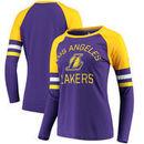 Los Angeles Lakers Fanatics Branded Women's Iconic Long Sleeve T-Shirt - Purple/Gold