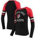 Portland Trail Blazers Fanatics Branded Women's Iconic Long Sleeve T-Shirt - Black/Red