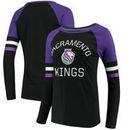 Sacramento Kings Fanatics Branded Women's Iconic Long Sleeve T-Shirt - Black/Purple