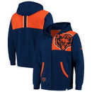 Chicago Bears NFL Pro Line by Fanatics Branded Big & Tall Iconic Bold Full Zip Hoodie – Navy