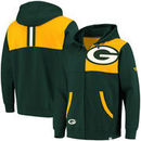 Green Bay Packers NFL Pro Line by Fanatics Branded Big & Tall Iconic Bold Full-Zip Hoodie – Green