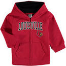 Louisville Cardinals Infant Applique Arch & Logo Full-Zip Hoodie - Red