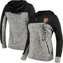 San Francisco Giants G-III 4Her by Carl Banks Women's Sideline Pullover Hoodie - Heathered Gray/Black