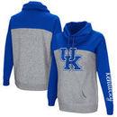 Kentucky Wildcats Colosseum Women's Color Block Springboard Funnel Neck Pullover Sweatshirt - Royal