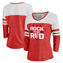 Washington Capitals Fanatics Branded Women's Hometown Collection Rock the Red Three-Quarter Sleeve T-Shirt - Red