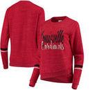 Louisville Cardinals Colosseum Women's Birdie Pullover Sweatshirt - Red