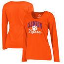 Clemson Tigers Fanatics Branded Women's Plus Sizes Victory Script Long Sleeve T-Shirt - Orange