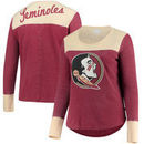 Florida State Seminoles Touch by Alyssa Milano Women's Plus Size Blindside Burnout Long Sleeve Thermal T-Shirt - Garnet