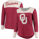 Oklahoma Sooners Touch by Alyssa Milano Women's Plus Size Blindside Burnout Long Sleeve Thermal T-Shirt - Crimson